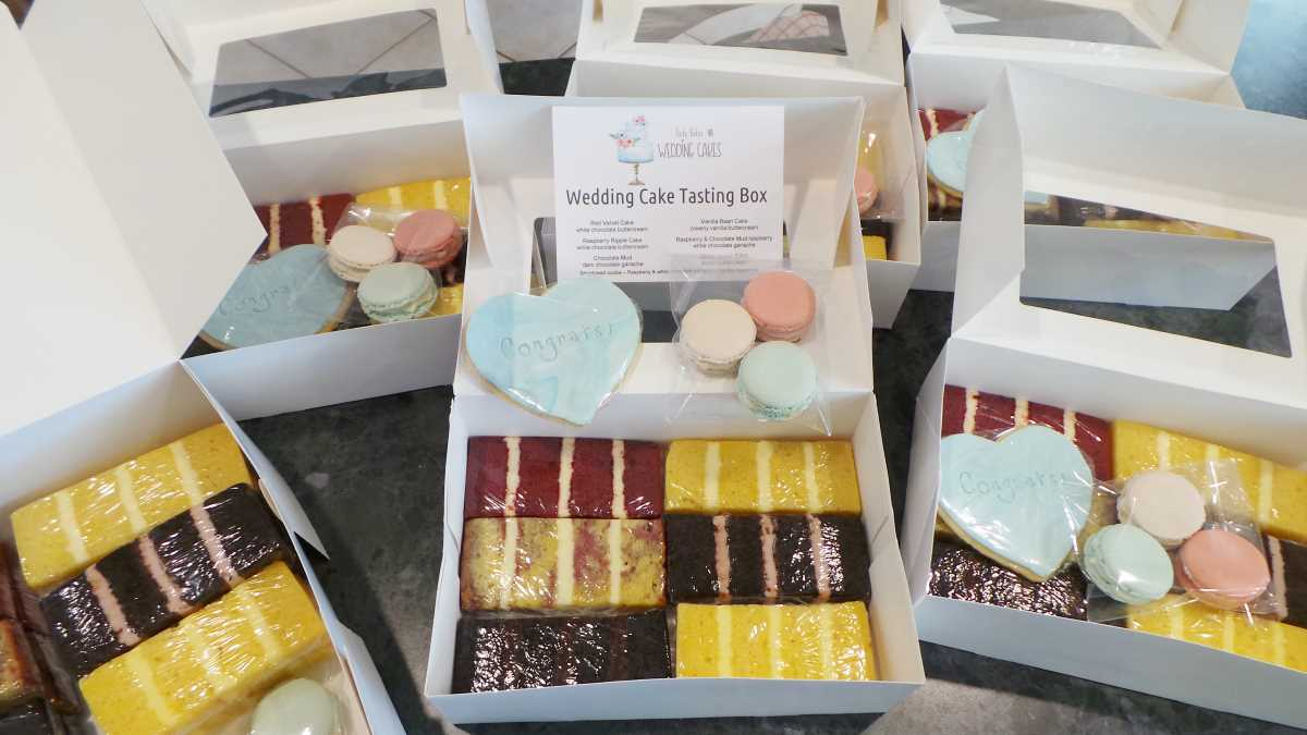 Wedding Cake Tasting.Wedding Cake Tasting Box