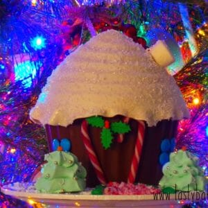 chocolate pinata gingerbread house candy cane christmas